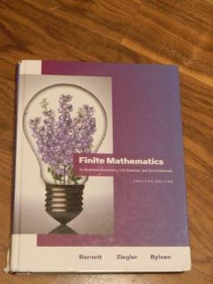 Finite Mathematics ISBN 0-321-61401-1