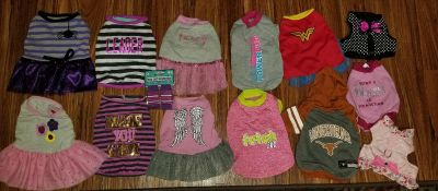 Lot of Small Dog Clothing