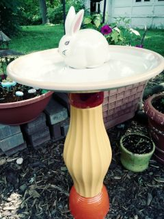 Upcycled Garden Decoration Bunny