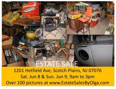 SCOTCH PLAINS ESTATE SALE- House is Loaded - Full Contents Must Be SOLD
