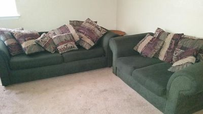$200, Love seat and couch Currently put in storage. MUST GO