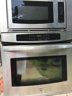 Combination Microwave and Electric Oven Wall Unit