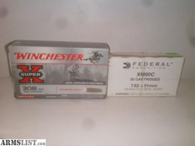 For Sale: federal xm80c and Winchester soft point. 308