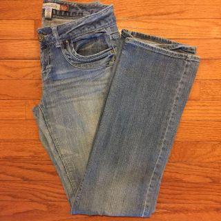 Aeropostale 9/10 Long Stretchy Skinny Flare Jeans