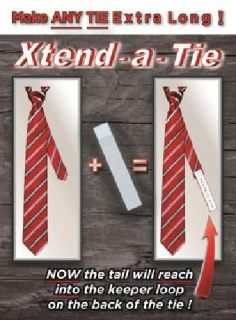 PROFIT OPPORTUNITY ? Sell necktie extenders at your store: XTEND-A-TIES