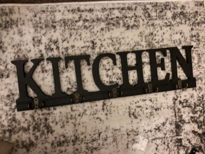 Kitchen Sign With Hooks