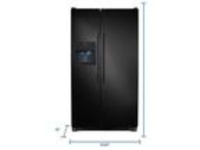 Frigidaire side by side refrigerator with 5 year warranty