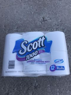 Scott toilet paper 1000 sheets 12 rolls (only have 1)