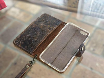 iPhone 6 Plus real leather wallet case - excellent condition - cost new over $100