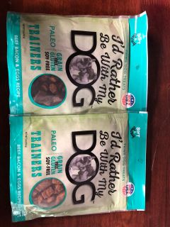2 Bags of I d rather be with my dog trainers beef bacon and egg recipe dog treats