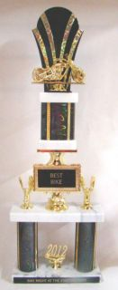 Purchase Bike Show Trophy - Free Engraving - 23 inch double column trophy motorcycle in Fullerton, California, US, for US $23.99