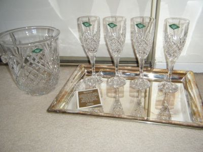 Crystal Champagne Set