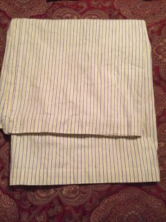 Cloth shower curtain. Yellow and blue. Excellent condition