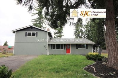 Four bed home for rent in Spanaway.