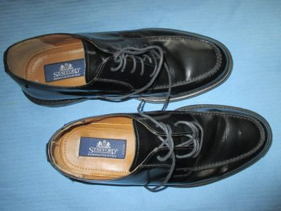 Men's Black Stafford Dress Shoes