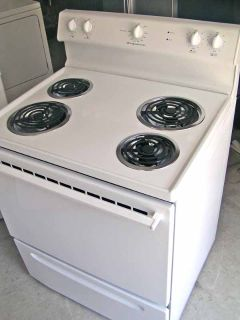 Range Stove Electric- By Frigidaire-White in color