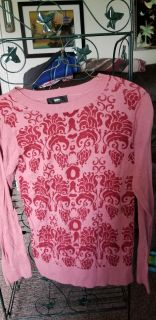 Massimo salmon and red light weight sweater