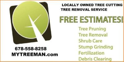 678-558-8258 My Tree Man TREE SERVICE TREE REMOVAL OF MARIETTA Ga.