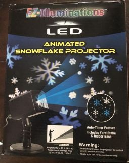 New n box Christmas LED animated snowflakes projector