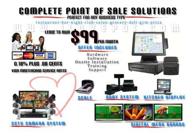 $75, New Orleans New Complete POS System with Pro Software CCTV Digital Menu Board Equipment