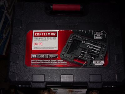 94 pc craftsman toolset