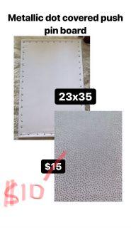 Metallic Dot Covered Pushpin Board
