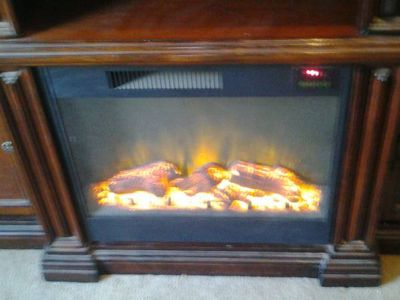 beautiful solid wood electric chimney $600