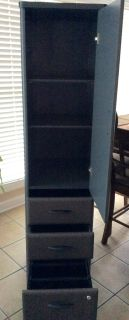 2- Bush Series A Vertical Locker Bookcase - Slate