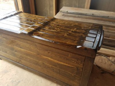 Rustic Firewood Bench boxes Handcrafted