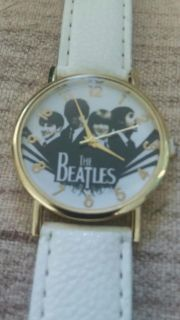 BEATLES WATCH WHITE GOLD IN COLOR NEW BATTERY