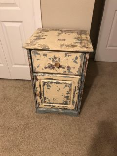Shabby wooden side table