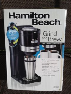 Grind and brew single serve coffeemaker