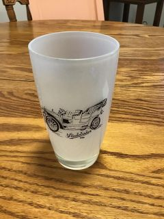 Frosted Studebaker glass