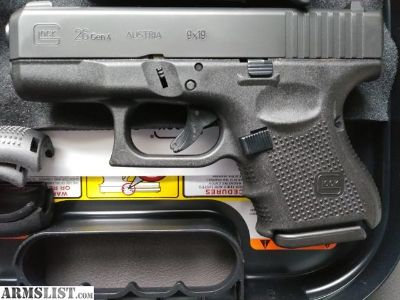 For Sale: New Glock 26 Gen 4 with night sight