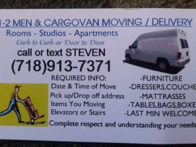 Small moving SERVICE**1-2 MOVERs & Van -713-913-7371
