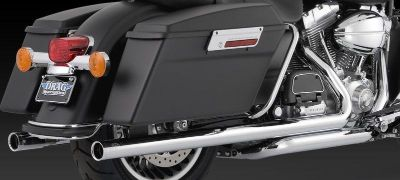Buy Vance & Hines Big Shot Duals Chrome 2009 Harley Davidson Touring motorcycle in Ashton, Illinois, US, for US $683.96