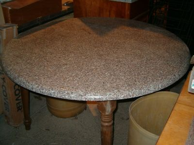 "GRANITE 48"" ROUND TABLE TOP - KITCHEN OR DISPLAY"