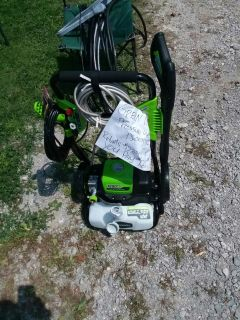 New new GREEN WORKS ELECTRIC PRESSURE WASHER