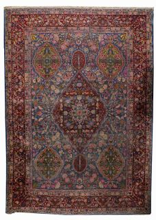 Hand made antique Persian Yazd rug, 1B494