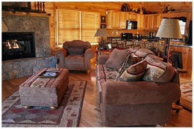 Rustic decor cabin furniture -  Sofa, chair, storage ottoman coffee table