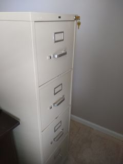 4 drawer file cabinet with key