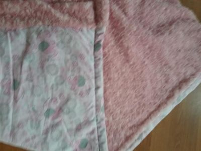 """Hand made double sided 38"""" 42""""baby/toddler blanket"""
