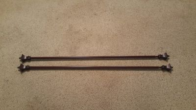 2 Brown Curtain Rods
