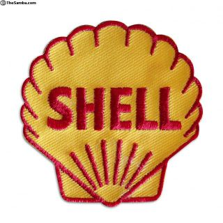 Vintage Embroidered Shell Oil Sew On patch NOS