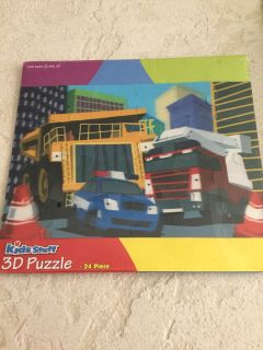 3-D Vehicle Puzzle ~ NEW!