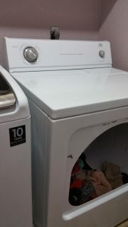 Roper 6.5 cu ft capacity dryer. Will NOT fail you.