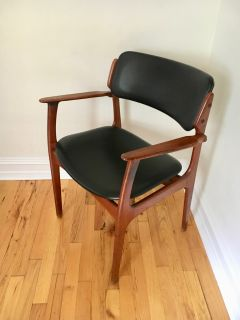 Erik Buch Danish Modern Teak & Fabric Arm Chair
