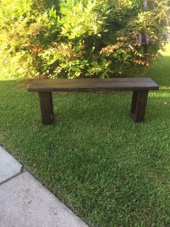 SOLID WOOD BENCH - Brand New