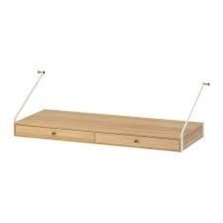 """SVALN S Desk top with 2 drawers, bamboo 31 7/8x13 3/4 """" 403.228.76"""