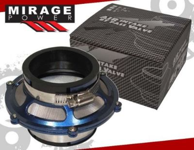 "Purchase UNIVERSAL 2.75"" COLD AIR INTAKE MAX FLOW ENGINE BYPASS VALVE FILTER + CLAMP BLUE motorcycle in La Puente, California, United States, for US $15.99"